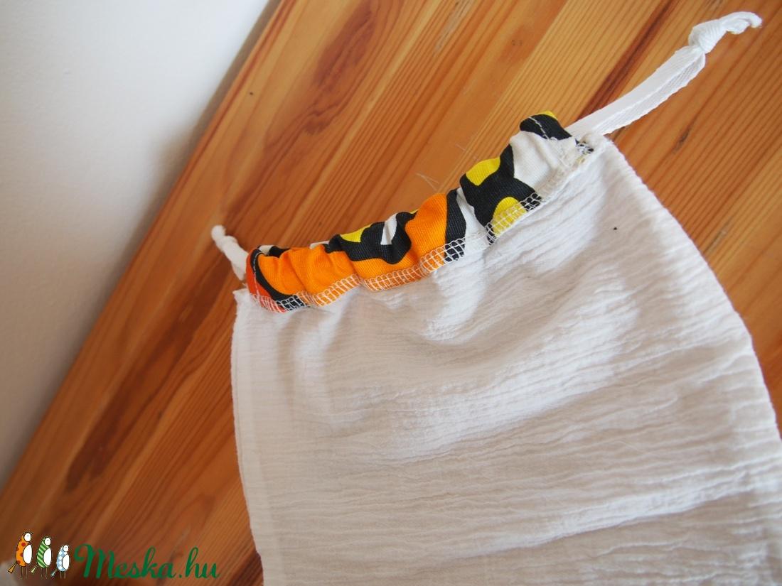 1f64a42248b2 ... 3 db összehúzható textil zsák, bevásárló táska, műanyag zacskó helyett  22 x 30 cm