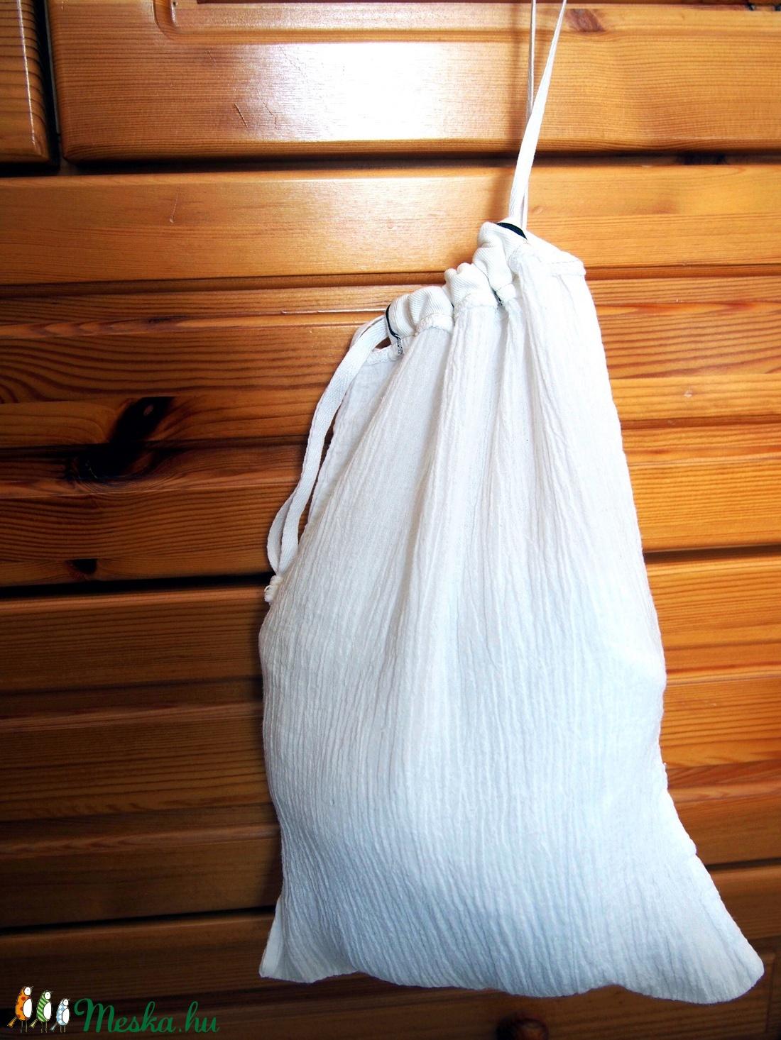 d07c77c7d9ab 3 db összehúzható textil zsák, bevásárló táska, műanyag zacskó helyett 22 x  30 cm. pamut szütyő tatyó tatyi öko zacskó