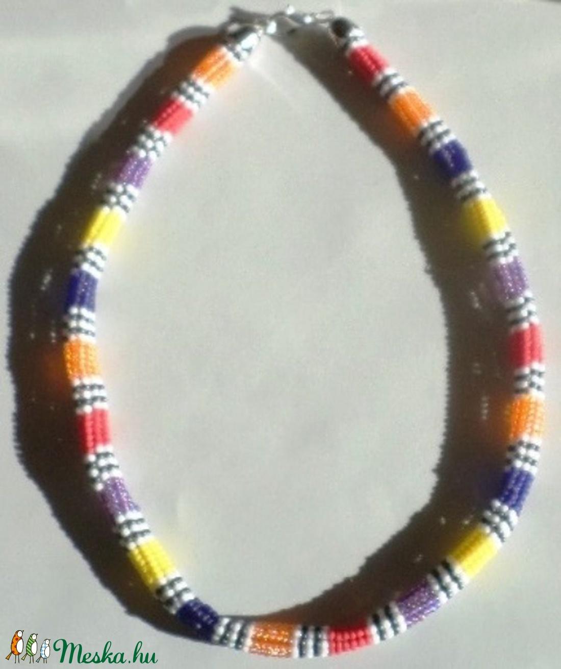 AFRIKA LÁNC - ékszer - nyaklánc - gyöngyös nyaklác - Meska.hu