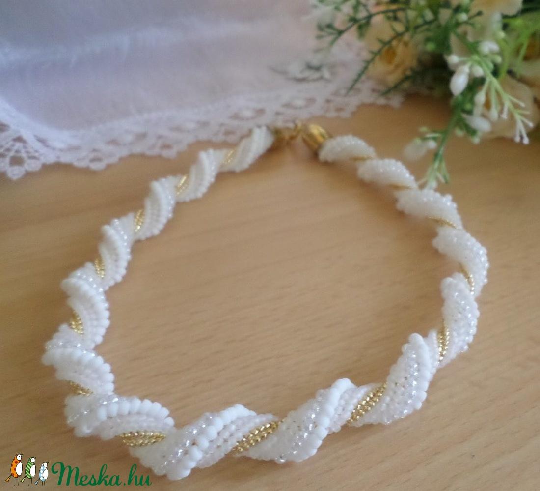 ADELINDA MENNYASSZONYI NYAKLÁNC - esküvő - ékszer - nyaklánc - Meska.hu