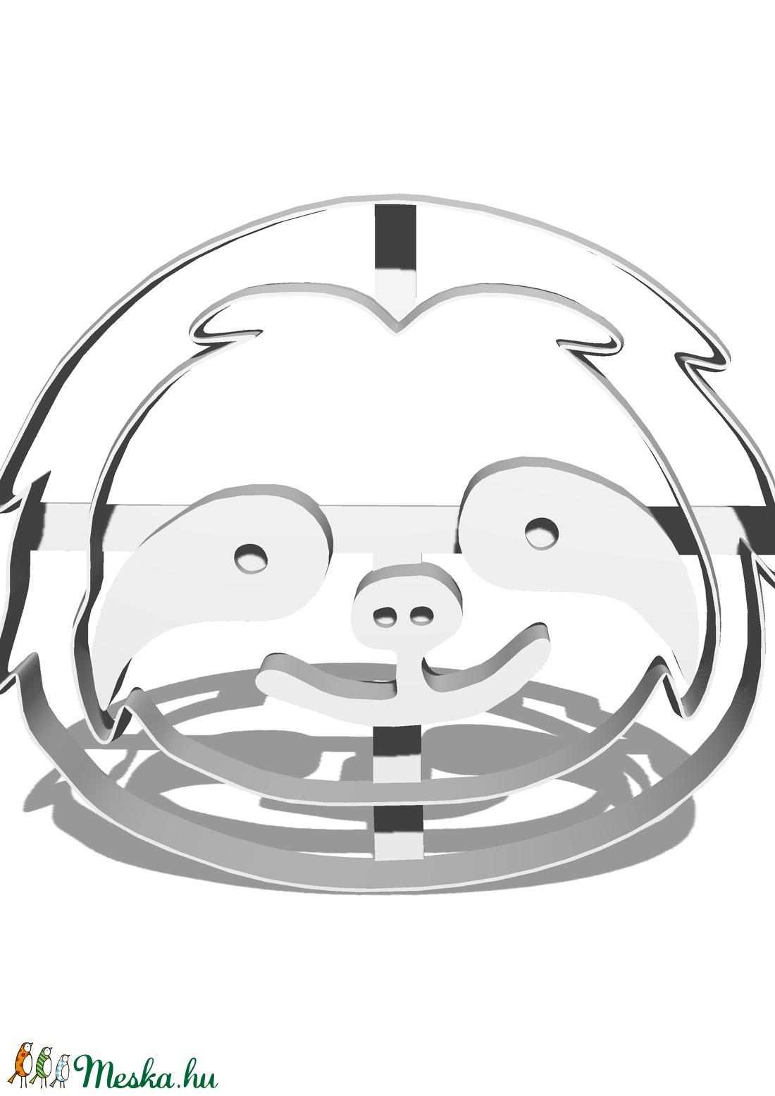 Műanyag fondant-marcipán-gyurma kiszúró, formalyukasztó lajhár fej - szerszámok, eszközök - vágóeszköz, kézi - Meska.hu