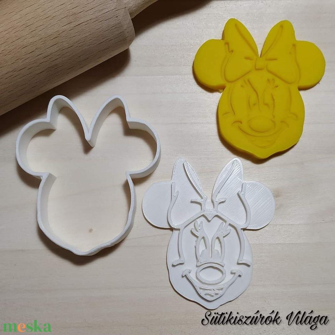 Minnie egér fej - süteménykiszúró forma, sütipecsét. Linzer, mézeskalács, keksz kiszúró (Sutikiszurokvilaga) - Meska.hu