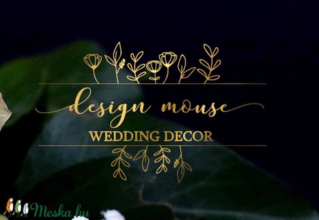 7b86fcde2220 Logó készítése, logó szerkesztése, egyedi logó, modern logó, natural logó,  greenery logó, esküvői logó