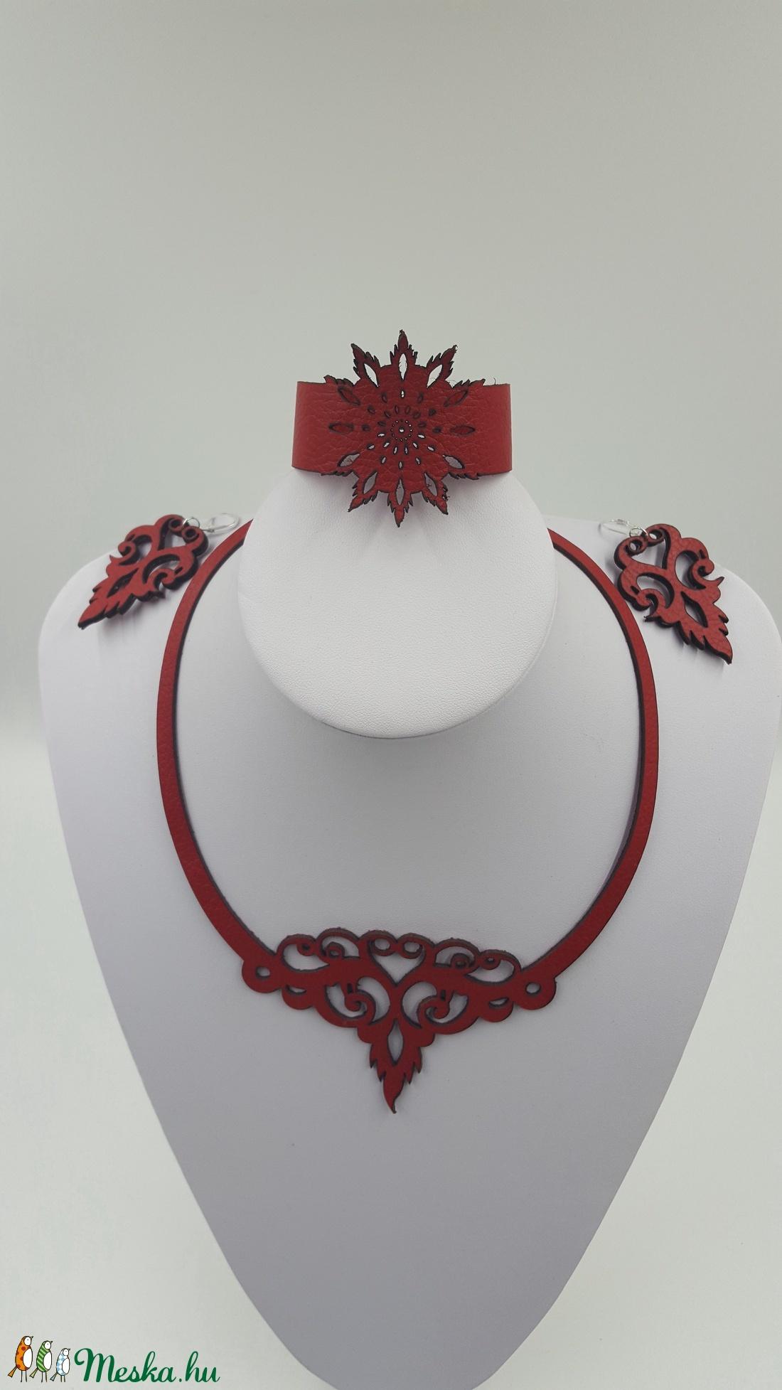 Zara piros színű bőr ékszer szett (Sysssy) - Meska.hu