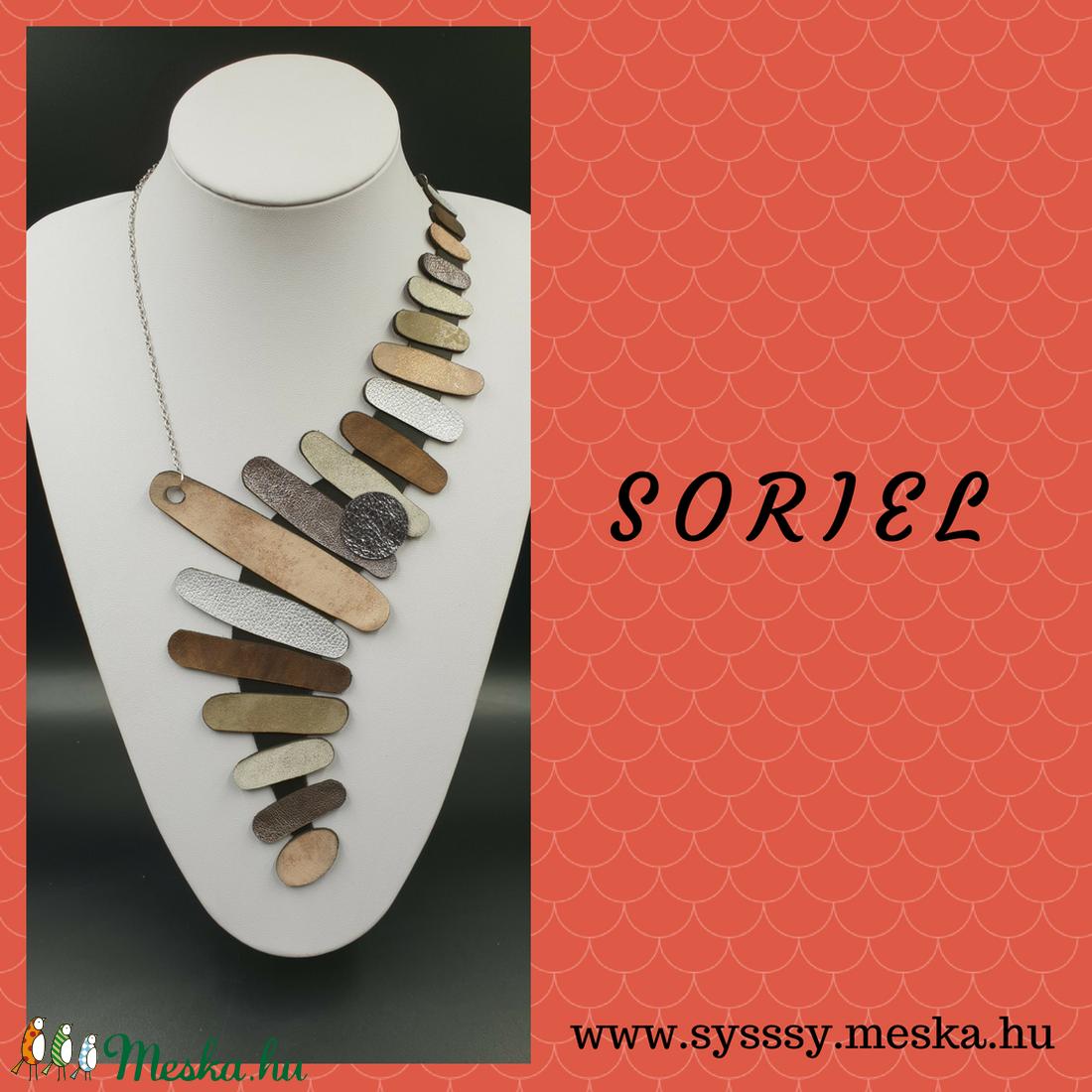 Soriel egyedi bőr nyaklánc (Sysssy) - Meska.hu