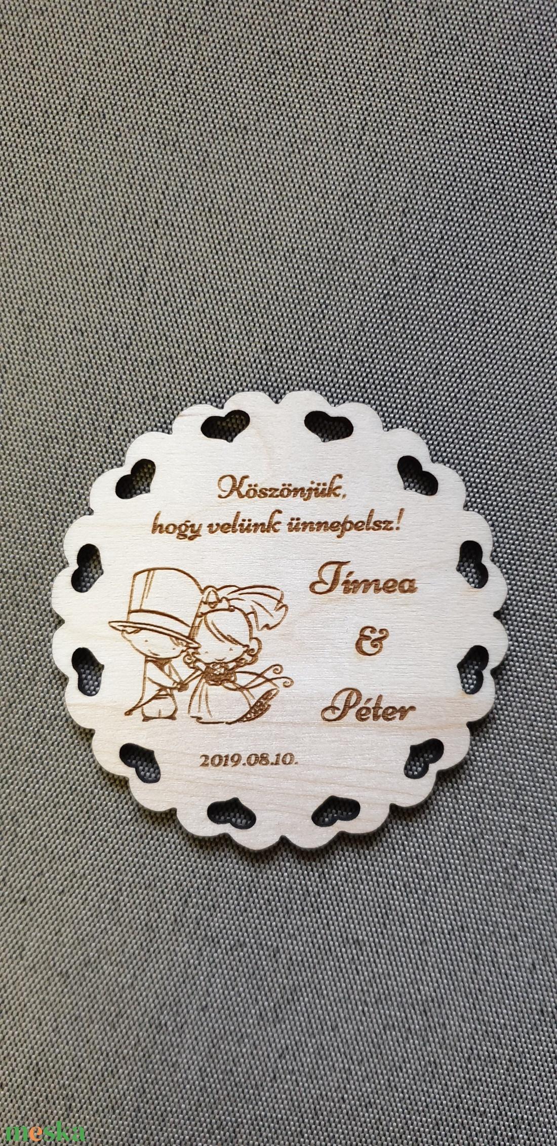 Esküvői hűtőmágnes Köszönetajándék esküvőre  (Sysssy) - Meska.hu