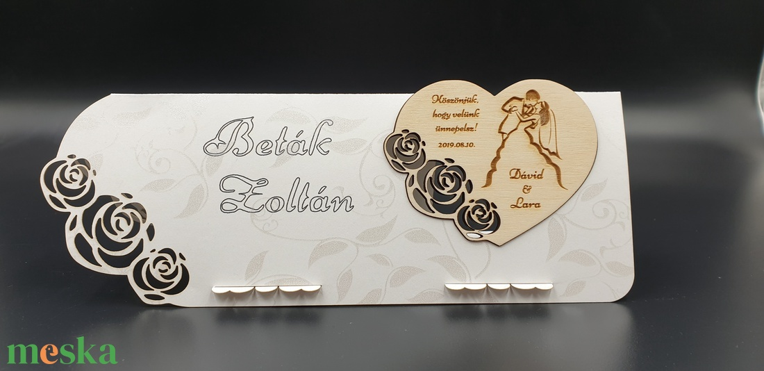 Esküvői köszönő ajándék hűtőmágnes, ültetőkártyával  - otthon & lakás - konyhafelszerelés - hűtőmágnes - Meska.hu