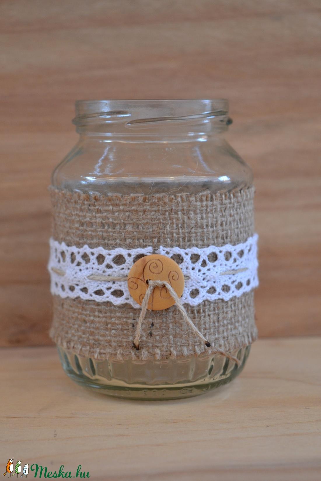 Befőttes kicsi üveg esküvőre 3# (szanadekor) - Meska.hu