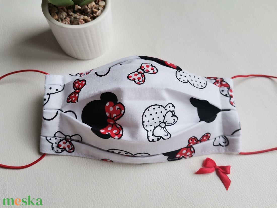 Mosható maszk, Minnie (piros)  - Meska.hu