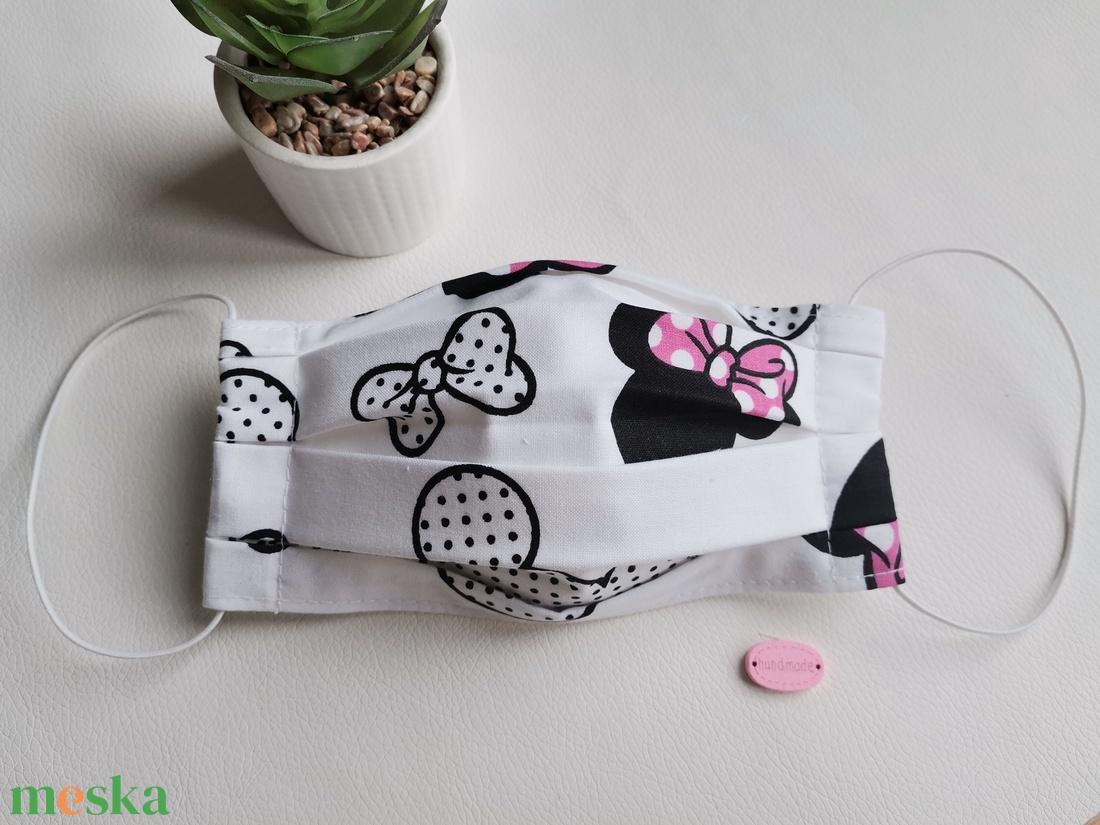 Mosható maszk, Minnie (rózsaszín)  - Meska.hu