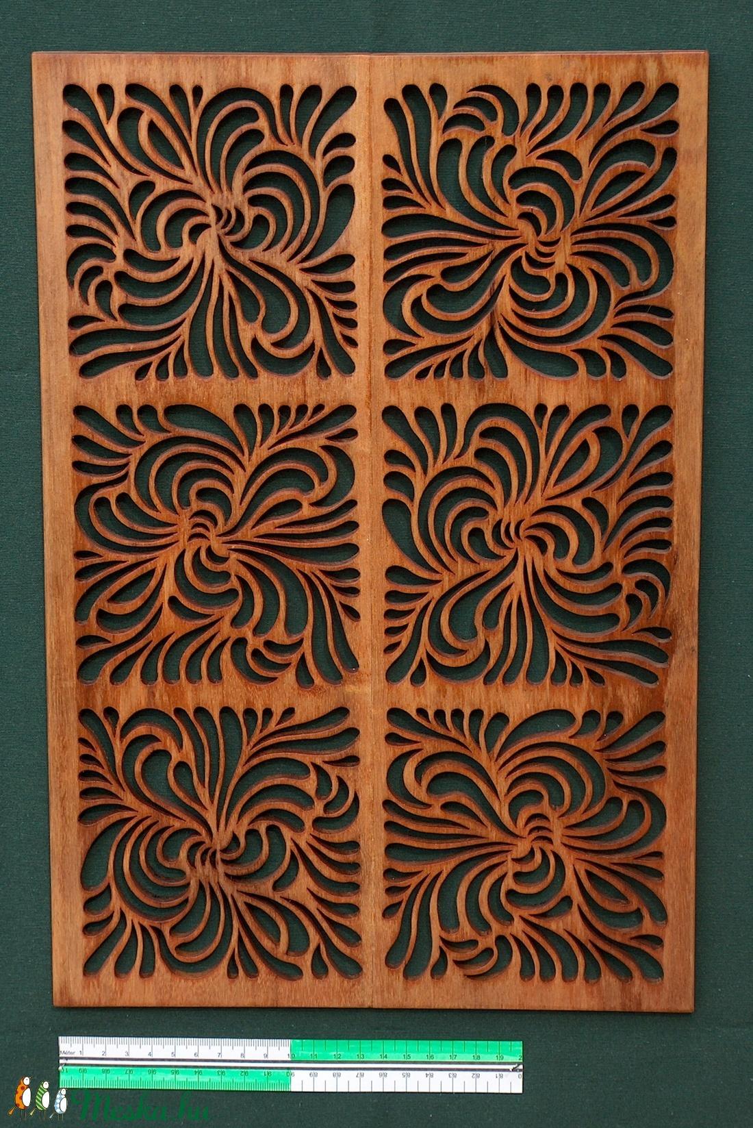 Tömörfa falikép - hullámok 6 - otthon & lakás - dekoráció - falra akasztható dekor - Meska.hu