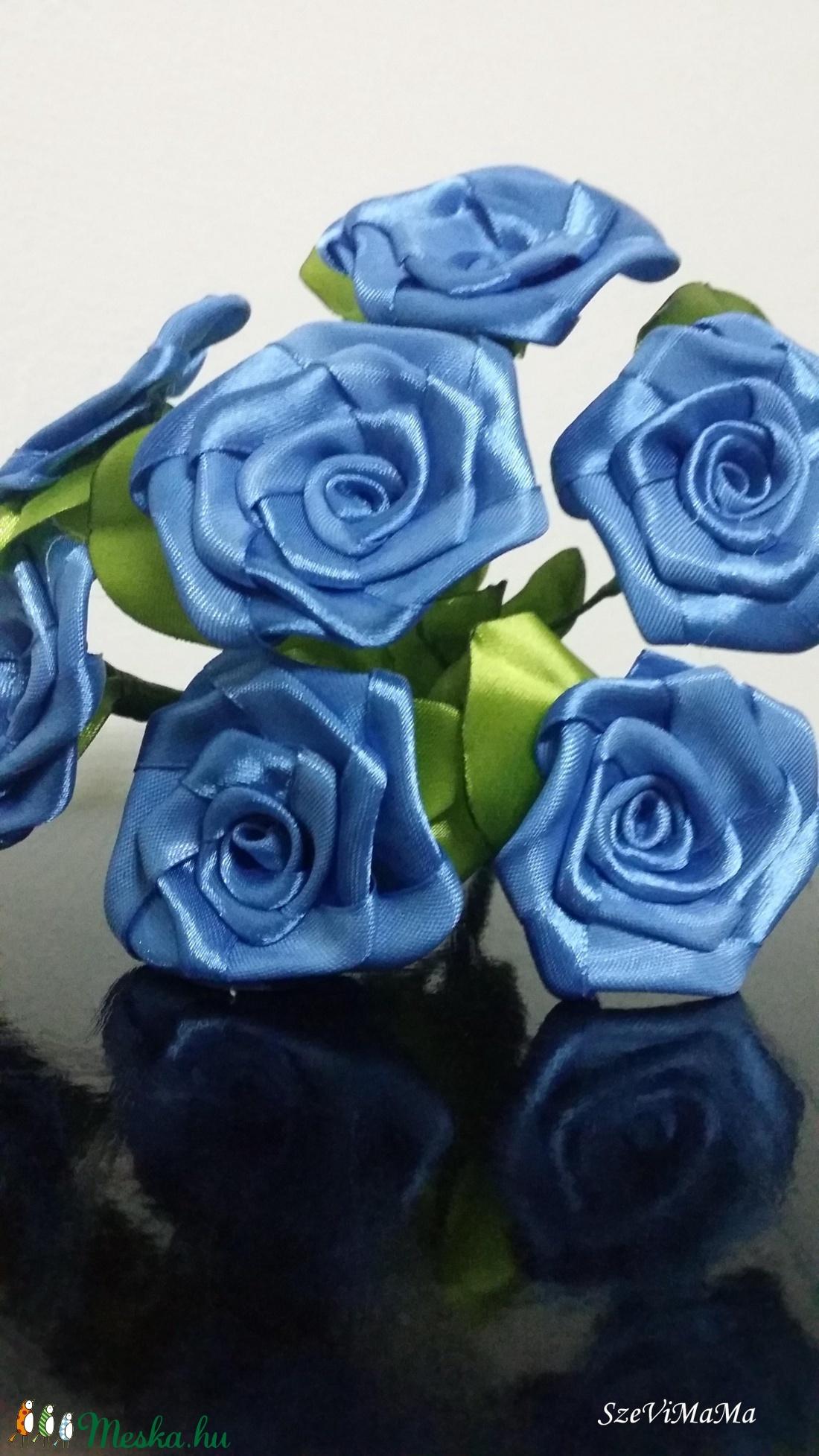 7 szálas kék rózsacsokor (Szevimamarozsakertje) - Meska.hu