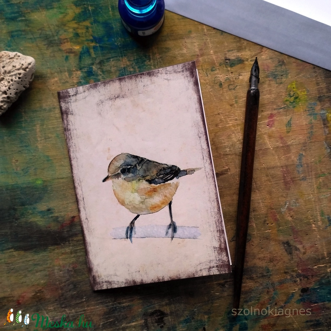 Csilpcsalpfüzike - festményeim képeslapon, borítékkal (szolnokiagnes) - Meska.hu
