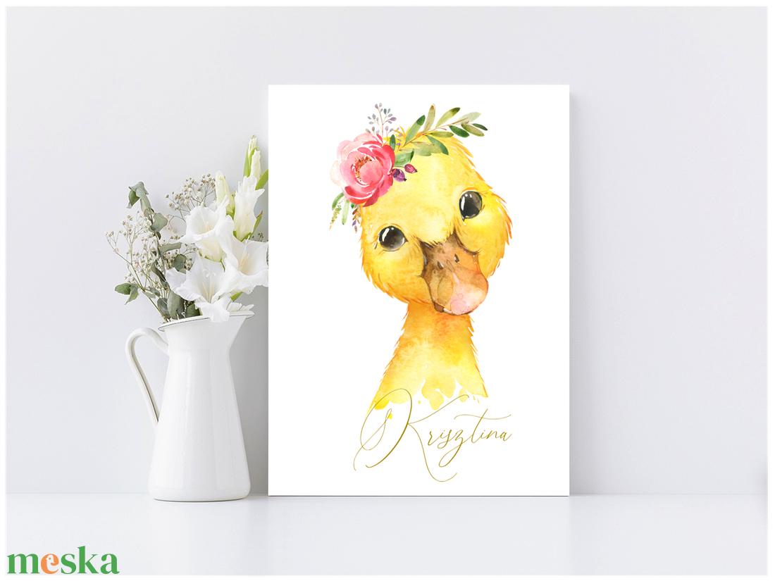 Kiskacsa vagy Kisló 30x20 cm fa tábla baba/gyerekszobába - művészet - grafika & illusztráció - Meska.hu