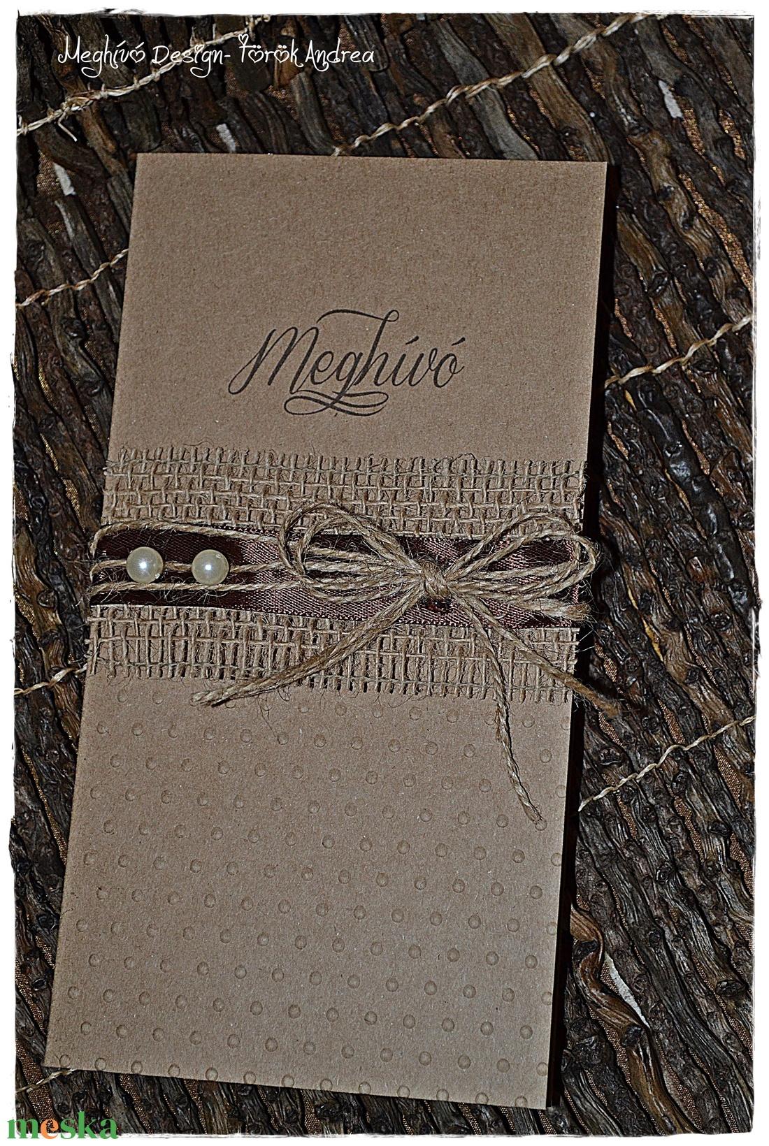 Vintage esküvői meghívó 2. - esküvő - meghívó & kártya - meghívó - Meska.hu