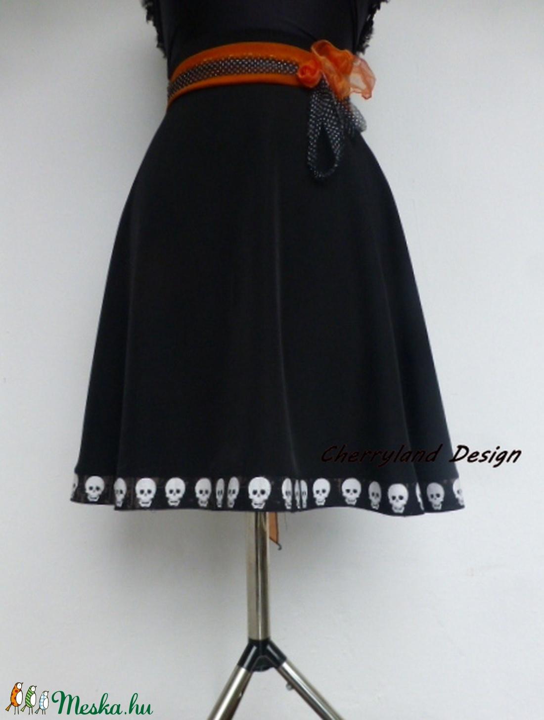 Cherryland Design Koponyás Egyedi kivitelű szoknya. - halloween - halloweeni jelmez és kiegészítők - Meska.hu