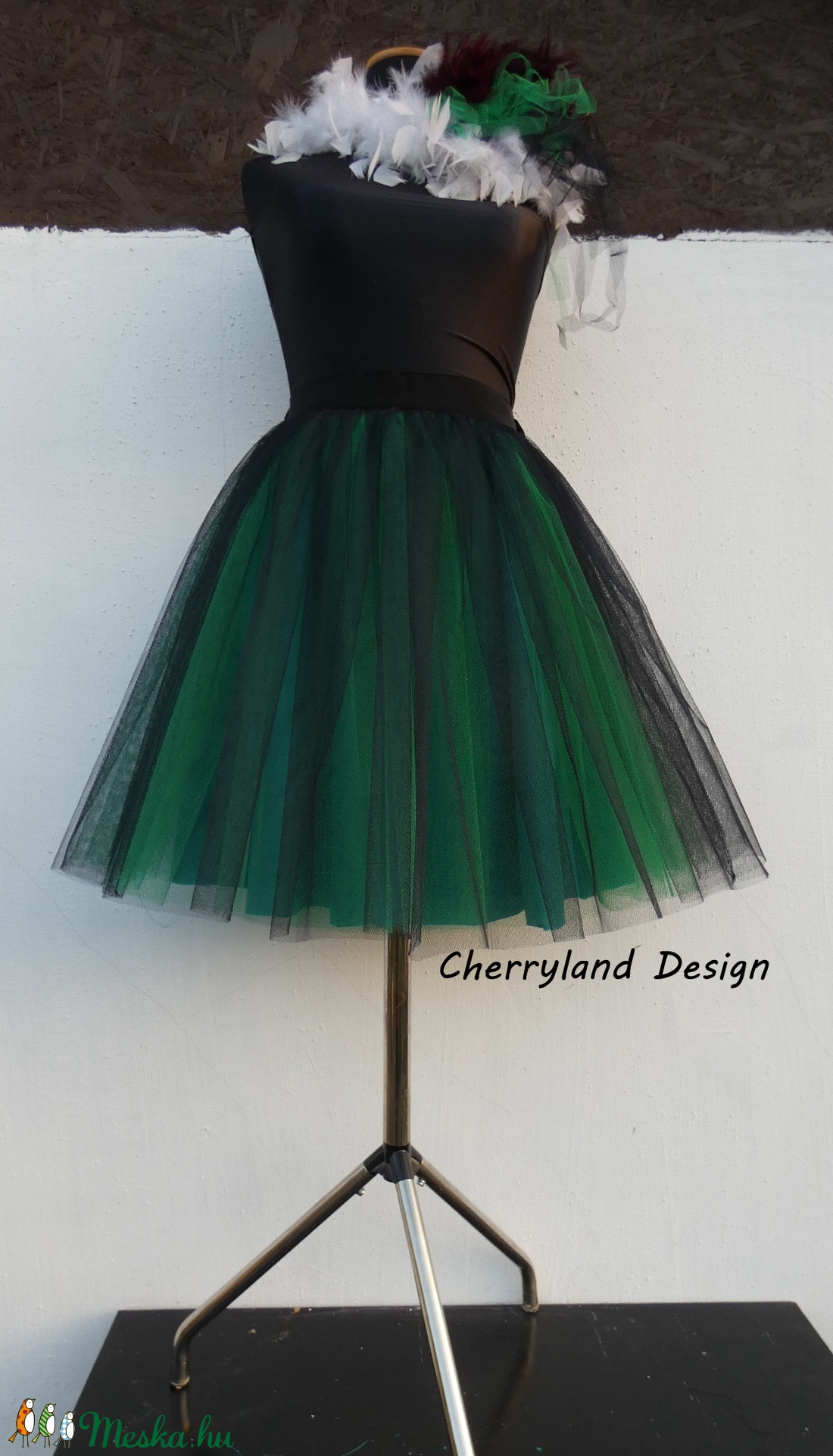 Cherryland Design Zöld Árnyalat Szoknya /Green Shades Tulle Skirt (textilmester) - Meska.hu