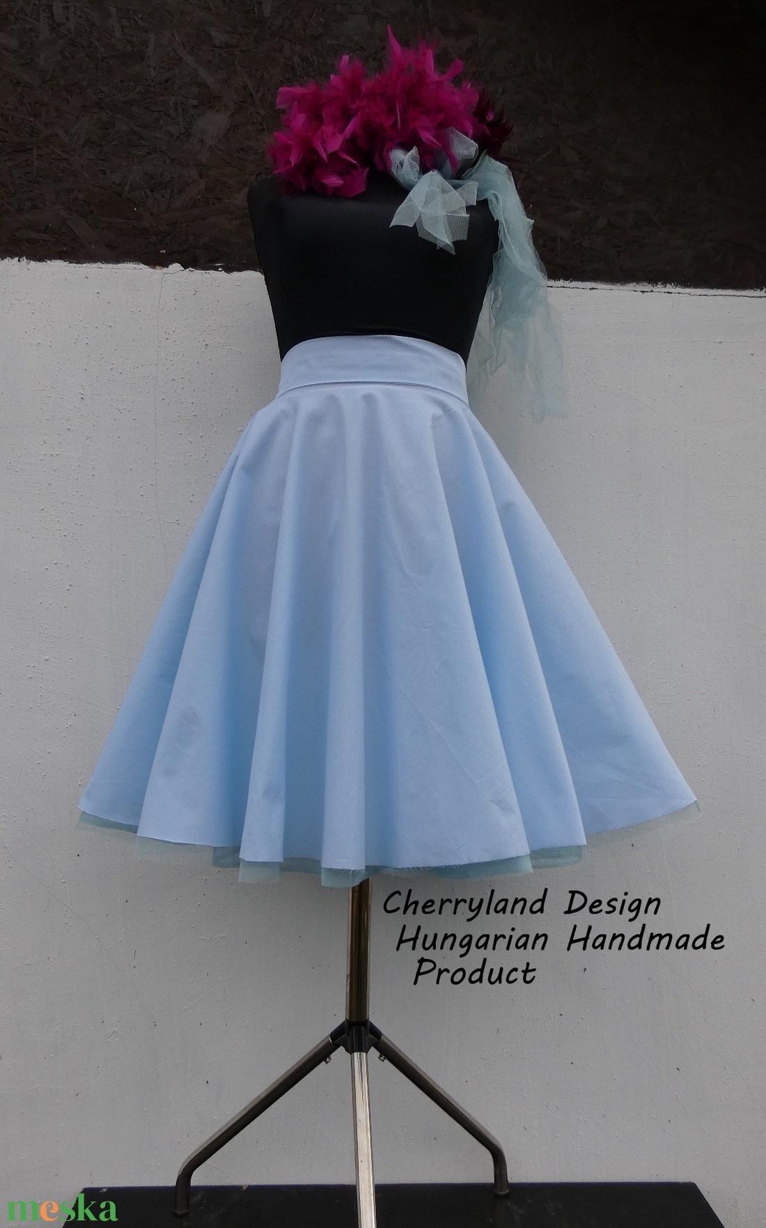 Cherryland Design-Kék  Rockabilly stílusú szoknya /Alsószoknya - Meska.hu