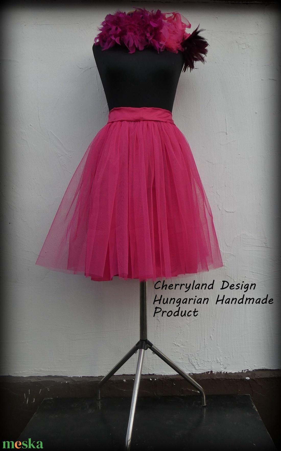 Cherryland Design Pink   Tüll Szoknya˛/ Pink Tulle Skirt (textilmester) - Meska.hu