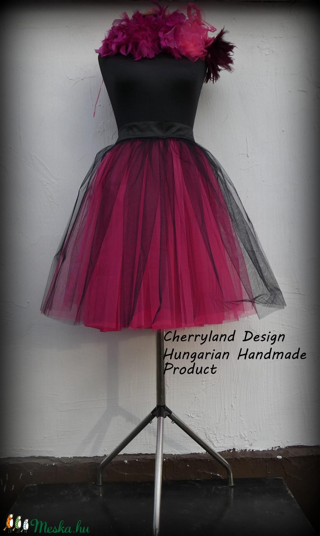 Cherryland Design Pink Árnyalat  Tüll Szoknya˛/ Pink Shades Tulle Skirt (textilmester) - Meska.hu