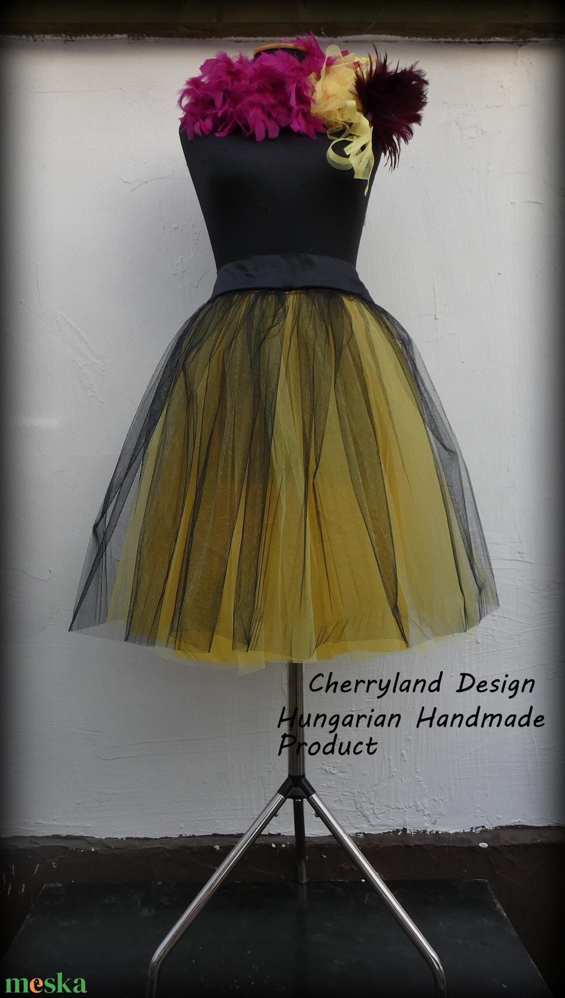 Cherryland Design Sárga  Árnyalat  Tüll Szoknya˛/ Yellow Shades Tulle Skirt (textilmester) - Meska.hu