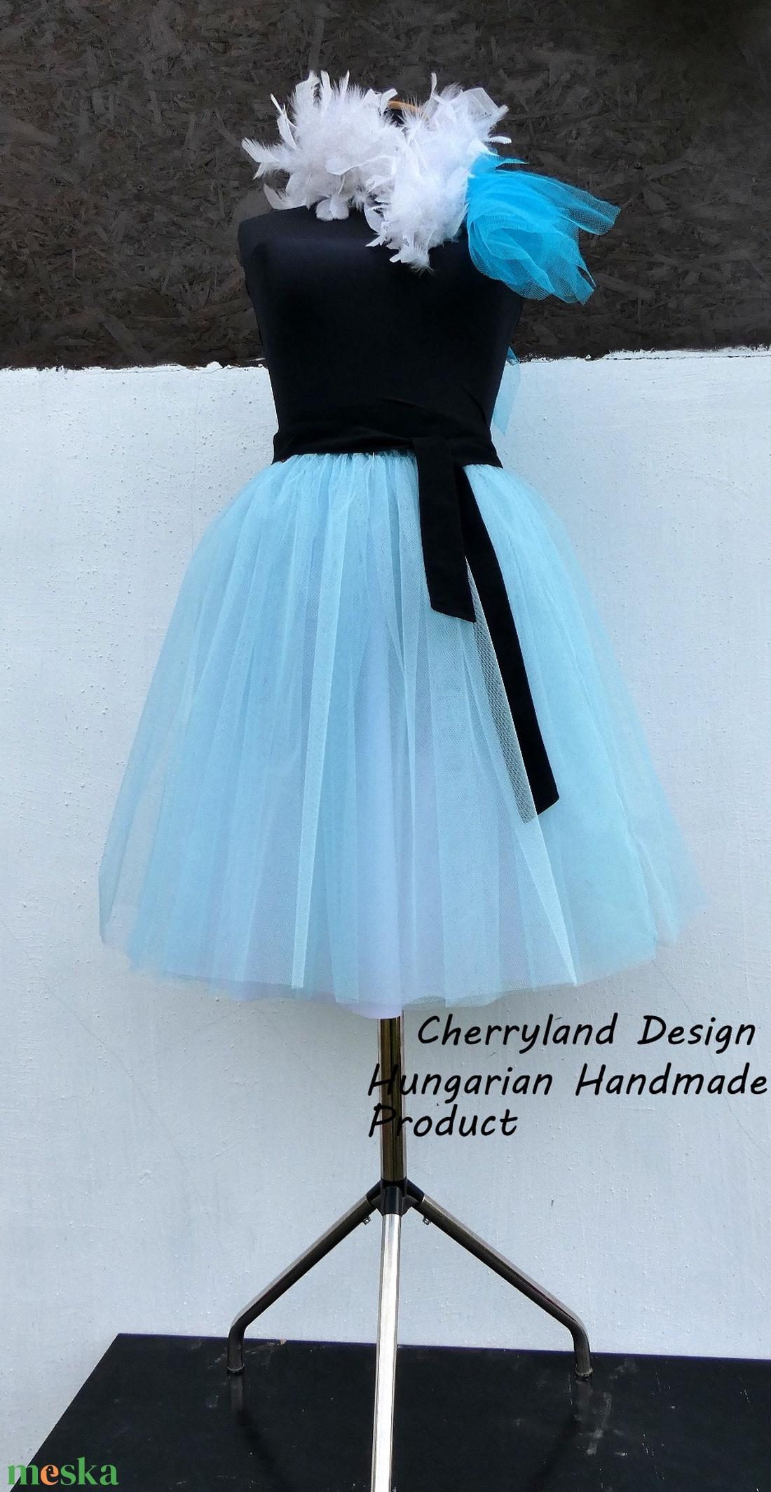 Cherryland Design BabaKék Tüll Szoknya/Blue Tulle Skirt - ruha & divat - női ruha - szoknya - Meska.hu