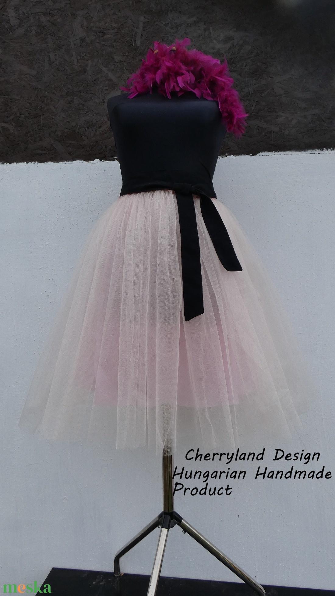 Cherryland Design Halovány Rózsaszín Tüll Szoknya˛/Tulle Skirt (textilmester) - Meska.hu