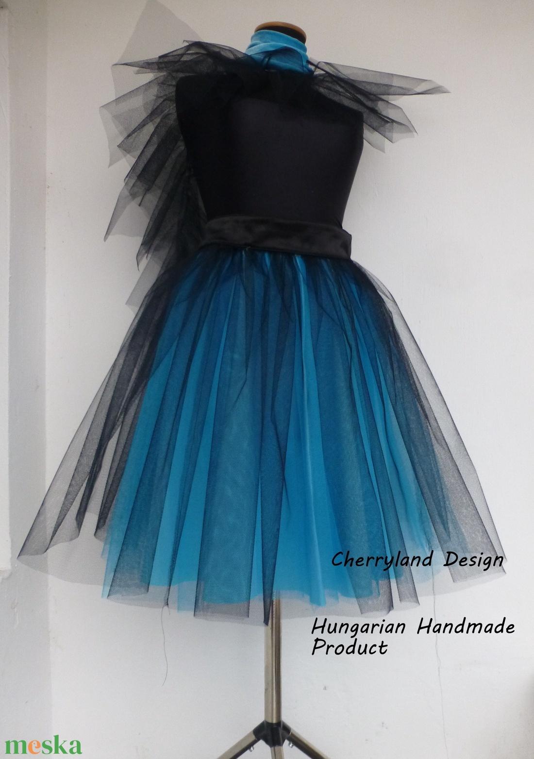 Kék Árnyalat Tüll Szoknya/Blue Shades Tulle Skirt (textilmester) - Meska.hu