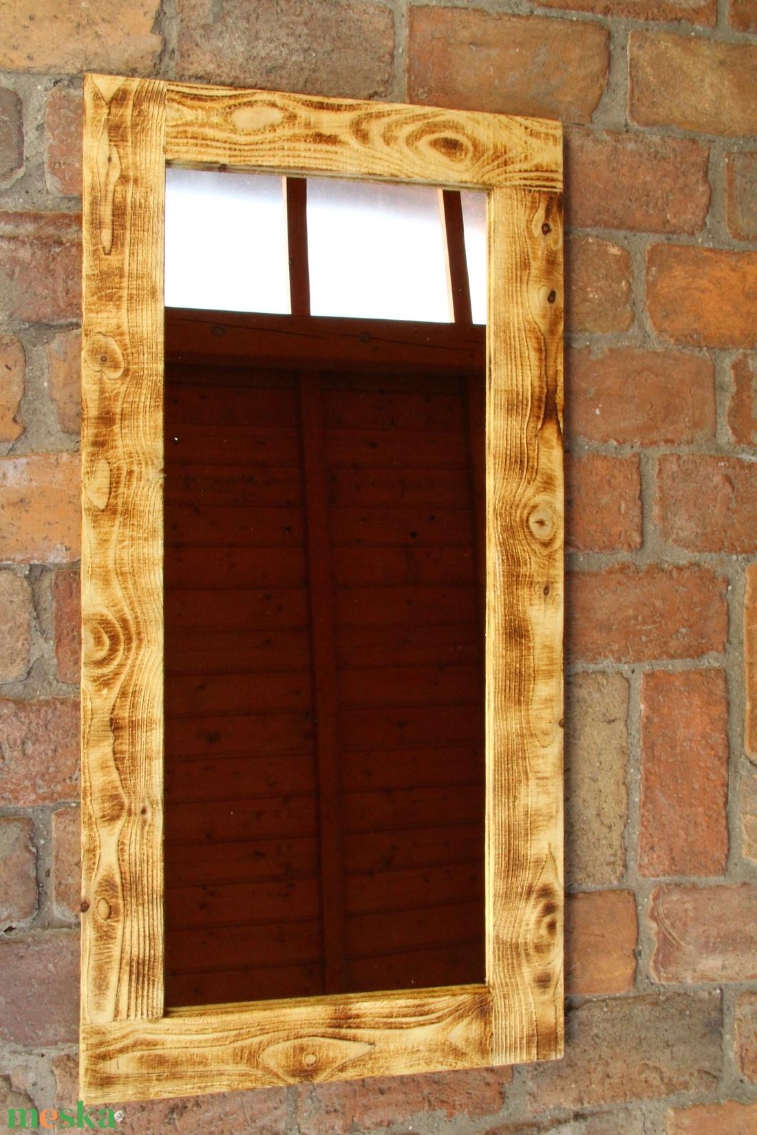 Tükör, Rusztikus Fali Tükör-keret, Tükör keret, Keret - otthon & lakás - dekoráció - tükör - Meska.hu