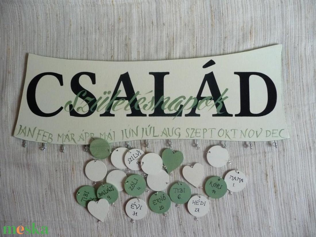 Szülinapos emlékeztető tábla:bézs- zöld (Tibandi) - Meska.hu