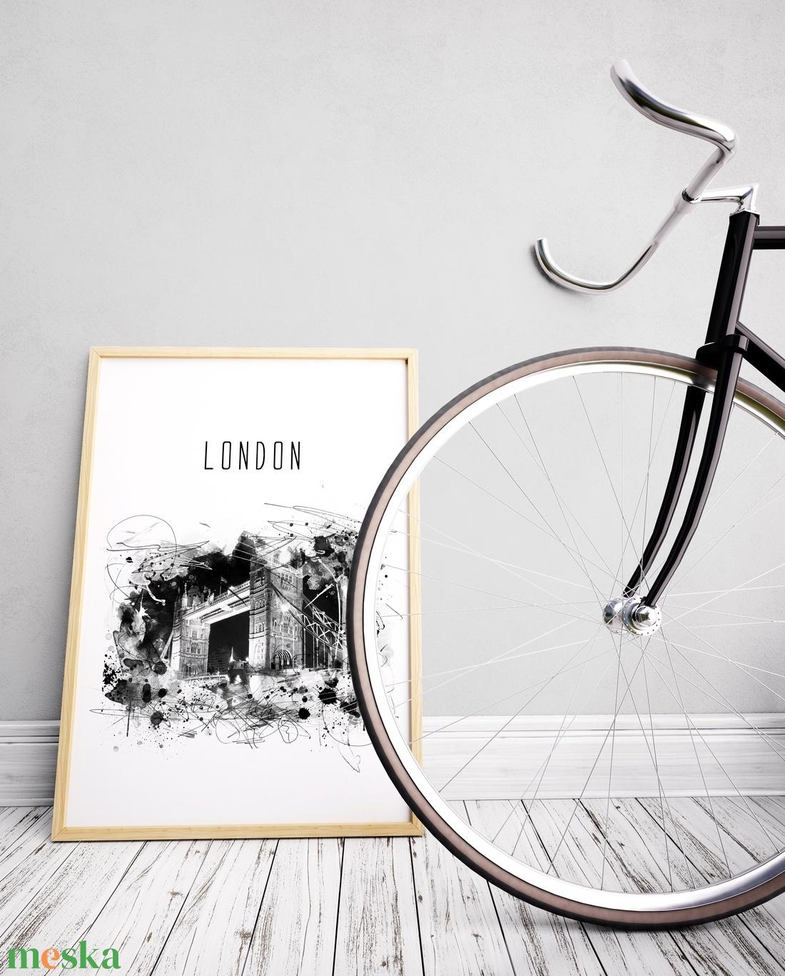 London digitális watercolor falikép, poszter, dekor - otthon & lakás - dekoráció - kép & falikép - Meska.hu
