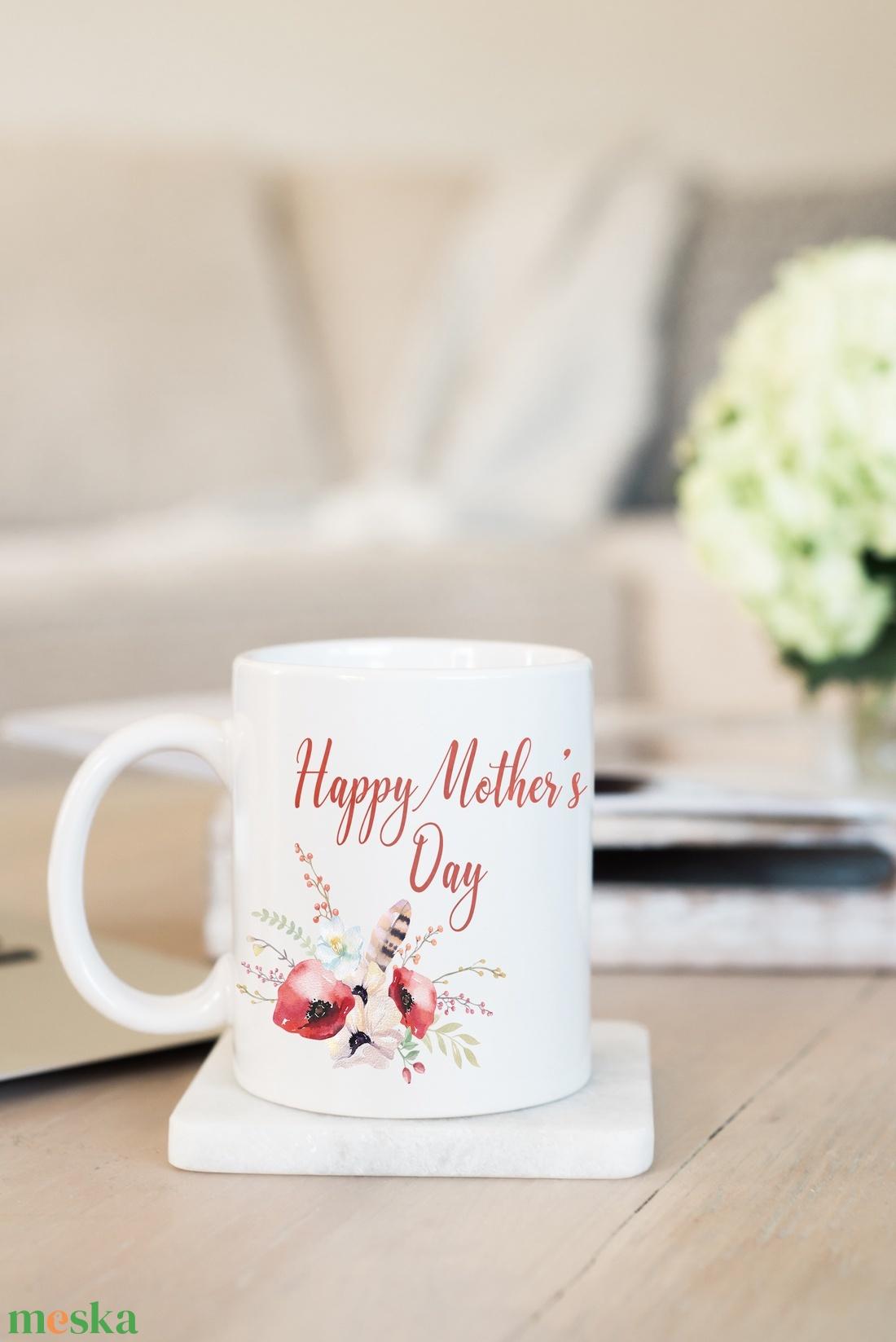 Anyáknapi bögre, virágos bögre, vintage bögre, bohó bögre - otthon & lakás - konyhafelszerelés - bögre & csésze - Meska.hu