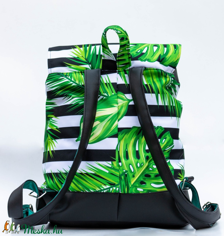 Csíkos, pálmás hátizsák - táska & tok - hátizsák - hátizsák - Meska.hu