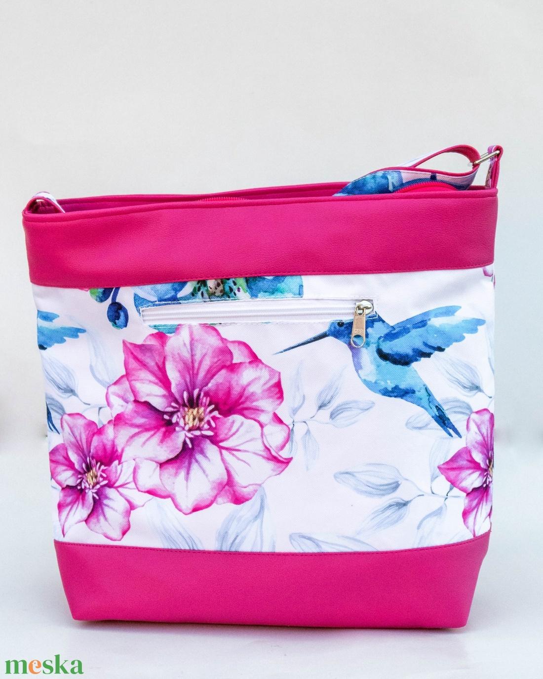 Kolibris oldaltáska - pink - táska & tok - kézitáska & válltáska - vállon átvethető táska - Meska.hu