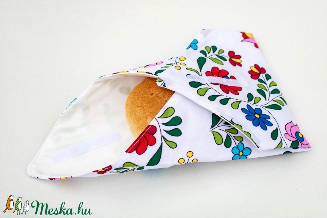 Kalocsai mintás újraszalvéta - ovi- és sulikezdés - uzsonna- & ebéd tartó - szendvics csomagoló - Meska.hu