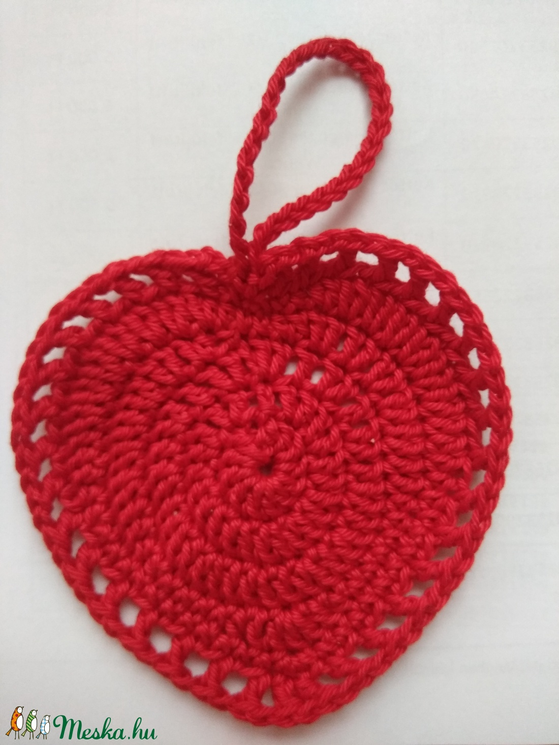 Piros szív (Tnebmonika) - Meska.hu