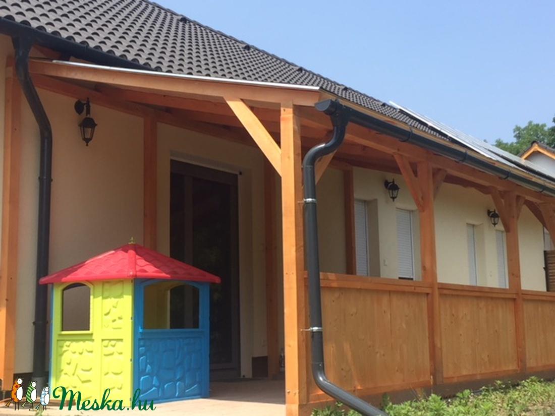 Elő tető, fedett terasz, korláttal,  18nm   700000 ft - otthon & lakás - ház & kert - kerti ház és szaletli - Meska.hu