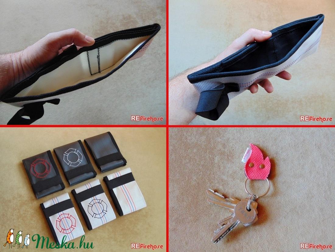 Fekete férfi pénztárca tűzoltó tömlőből bankkártya névjegy irattartó  hasznos és praktikus ajándék férfiaknak férjeknek (Trashman) - Meska.hu 514b0c7836