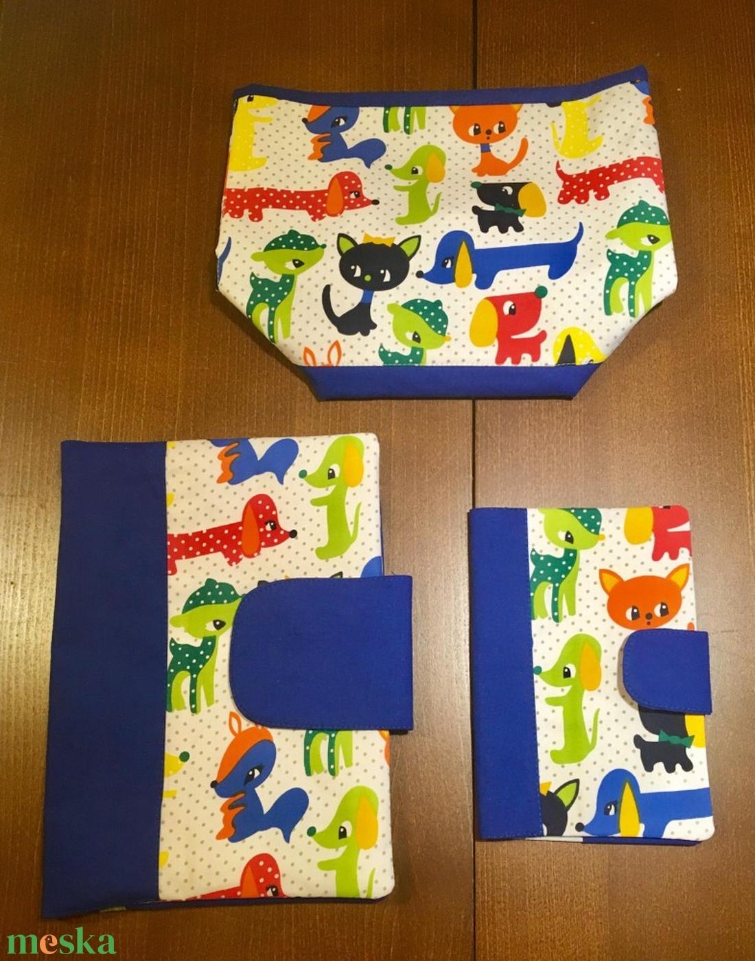 Kék állatos-3 db-os Babalátogató ajándék csomag - Meska.hu