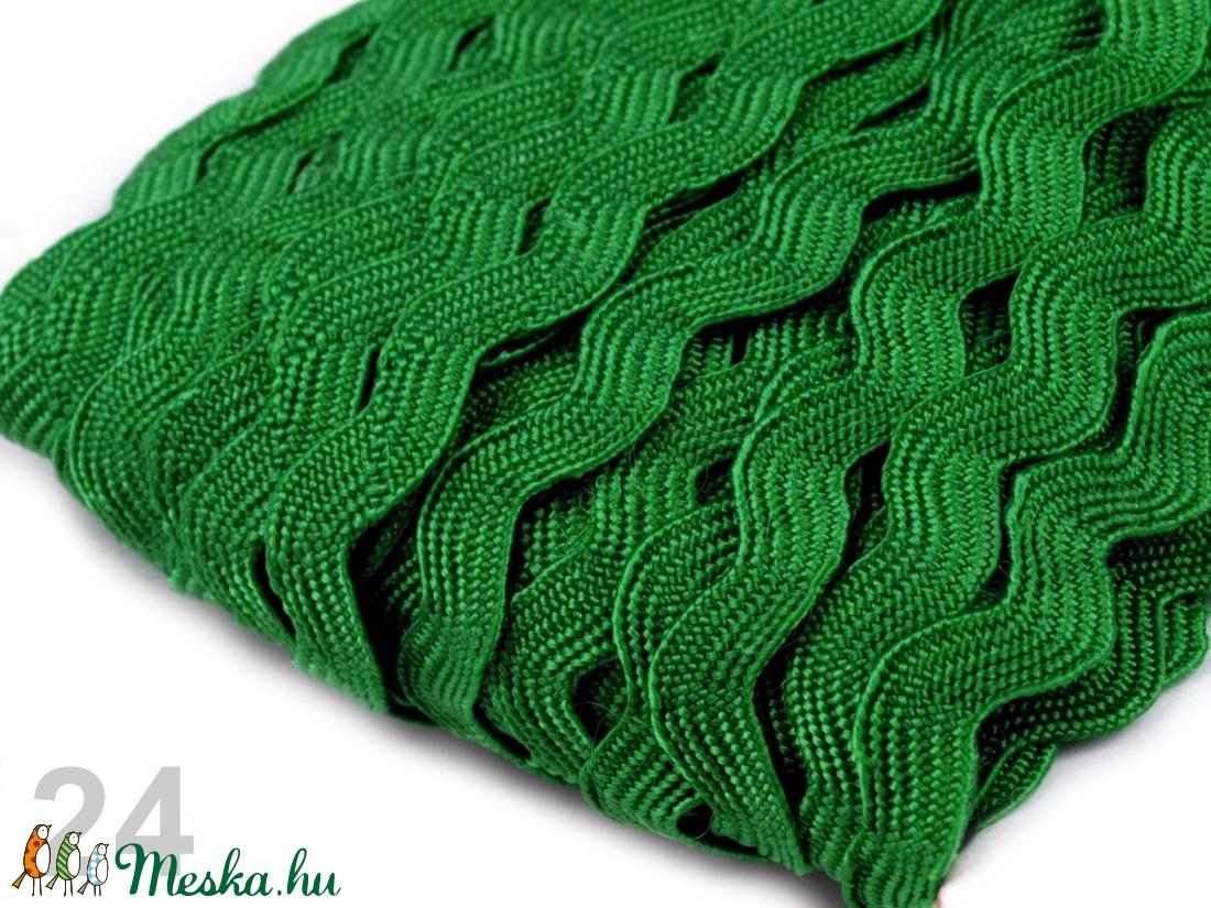 sötét zöld farkasfog szalag - textil - szalag, pánt - Meska.hu