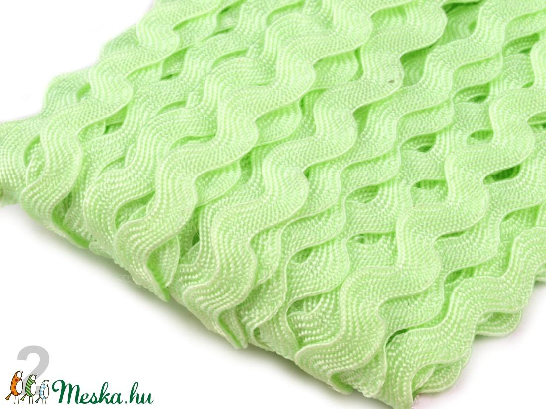 Zöld farkasfog szalag - cseh 9mm-es paszomány - textil - Meska.hu