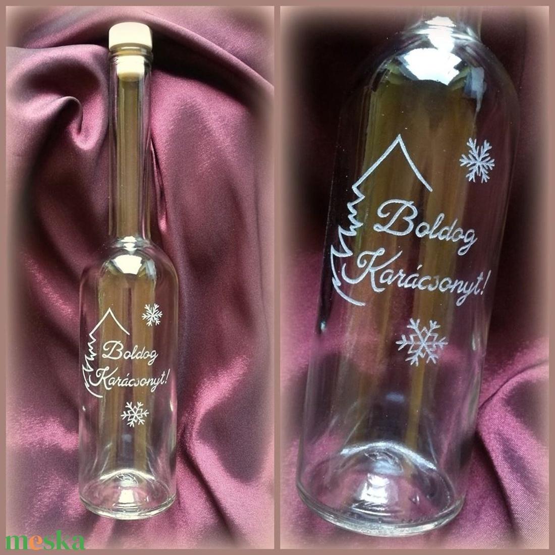 Karácsonyi palack - 0,5 l (turmix) - Meska.hu