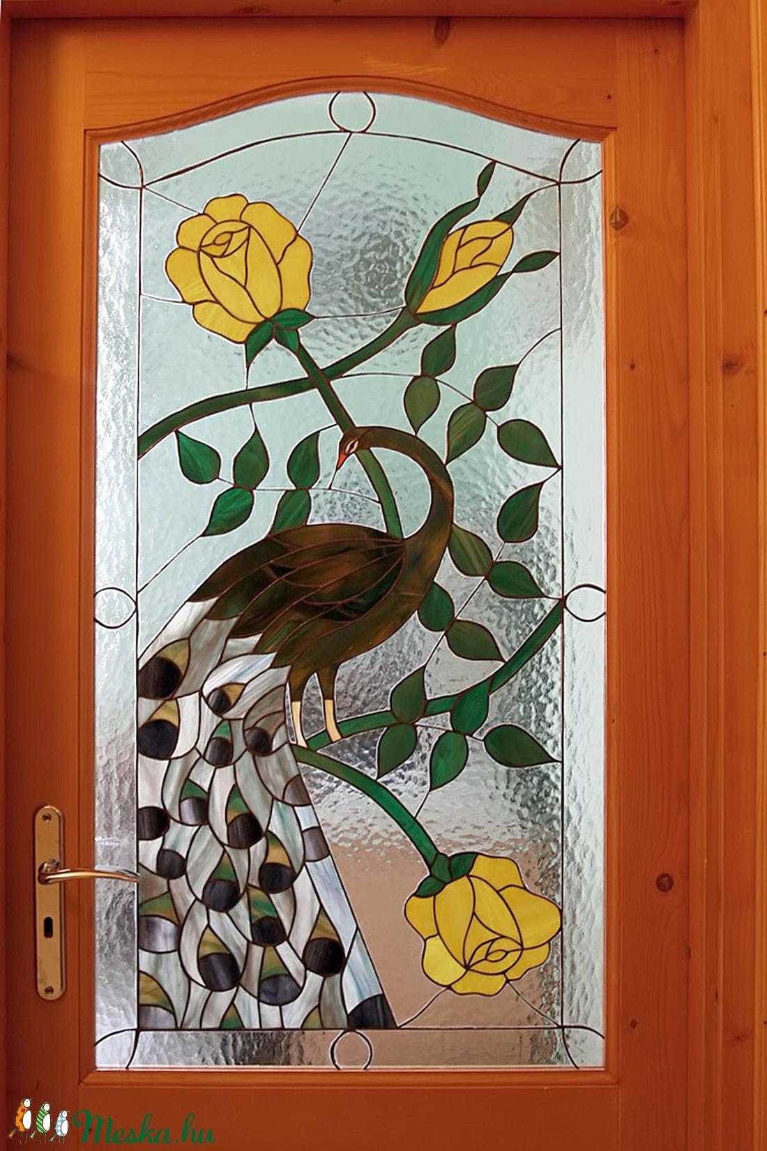 Tiffany beltéri ajtóüveg (Uvegdekor63) - Meska.hu