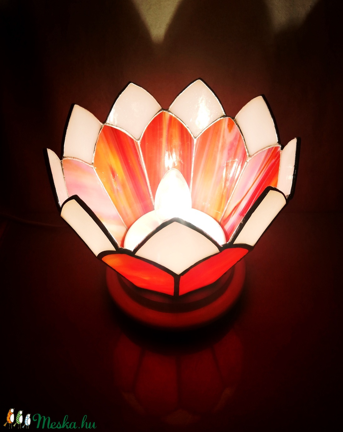 Nyári virág - Tiffany lámpa  (UvegLelek) - Meska.hu