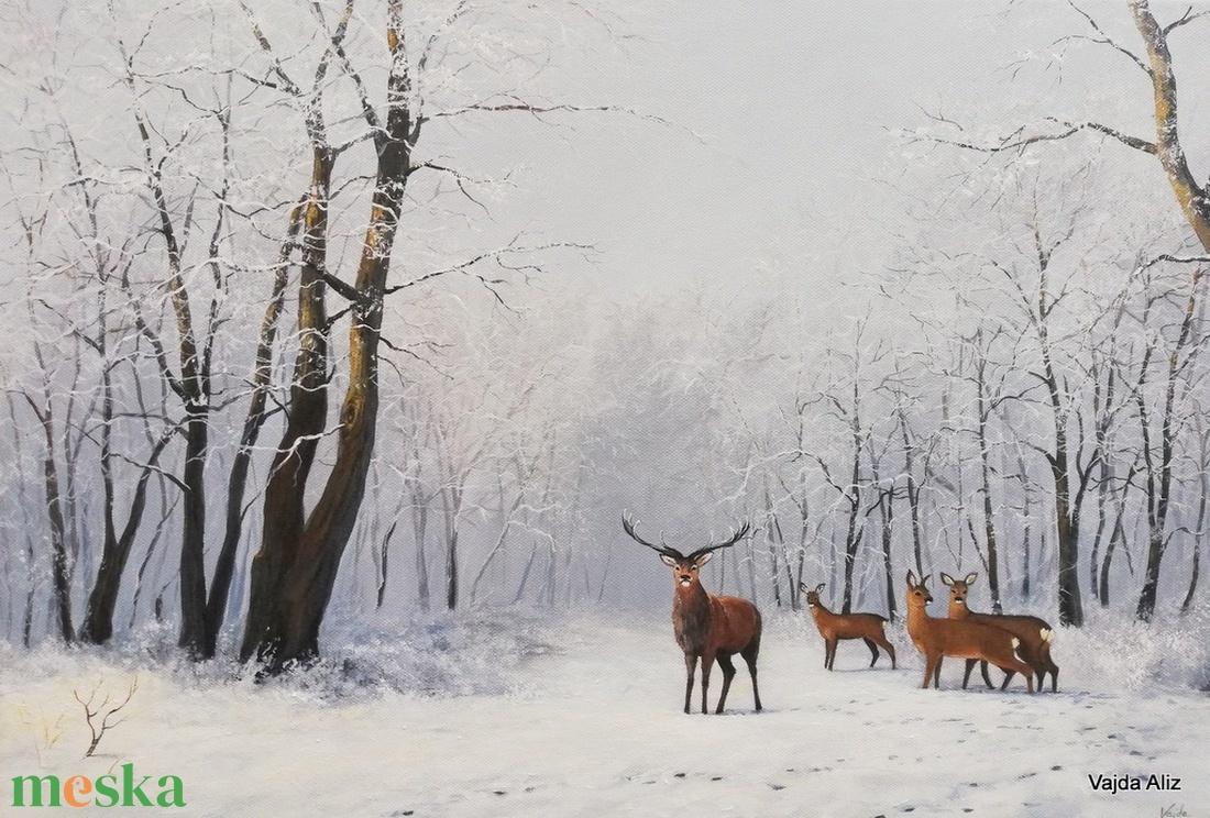 Havas reggel - festmény (vajdaaliz) - Meska.hu