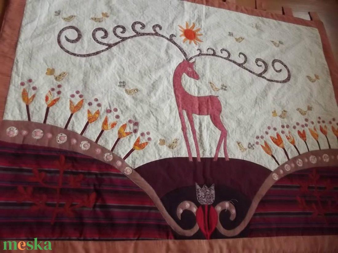 Falikép  szarvasokkal, tulipánokkal 160 x 100 cm - otthon & lakás - lakástextil - falvédő - Meska.hu