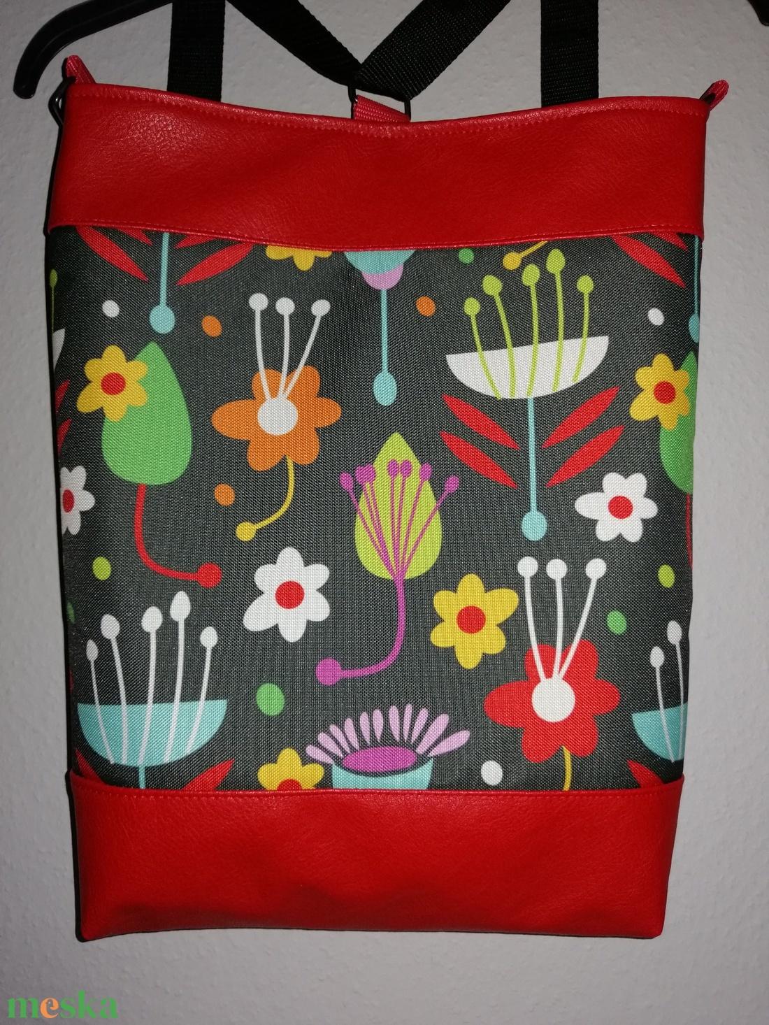 3IN1 Virágos táska  - táska & tok - variálható táska - Meska.hu