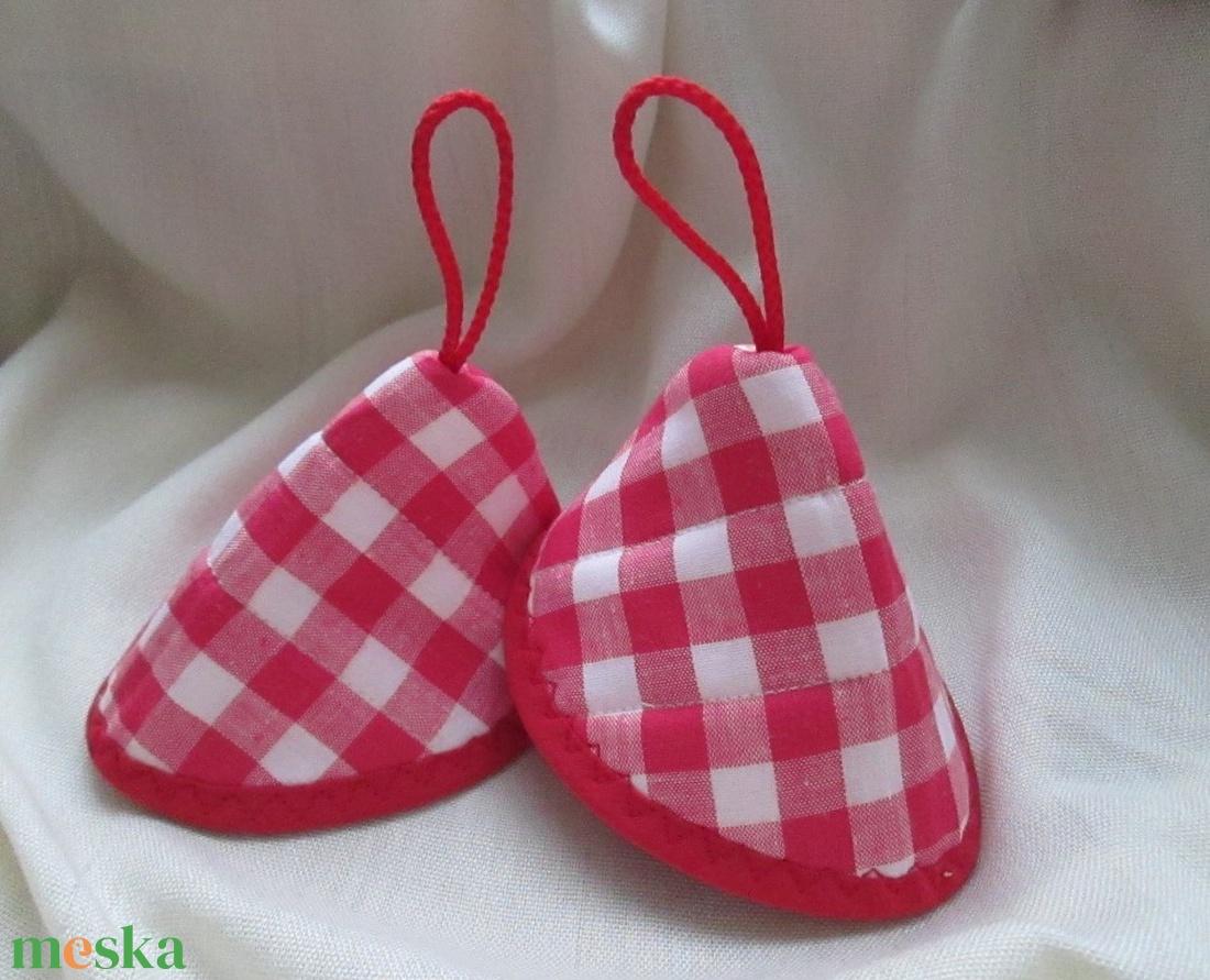Edényfogó, fedőfogó, fülfogó -  piros-fehér kockás (2 db) - otthon & lakás - konyhafelszerelés - edényfogó & edényfedő - Meska.hu