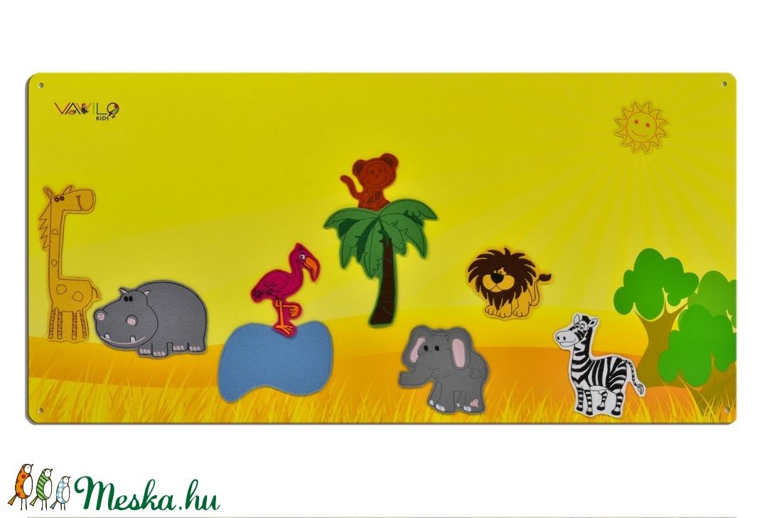 Szavanna állatai - 10 db mágneses játékfigura + 1 db fémtábla (Vavilokids) - Meska.hu