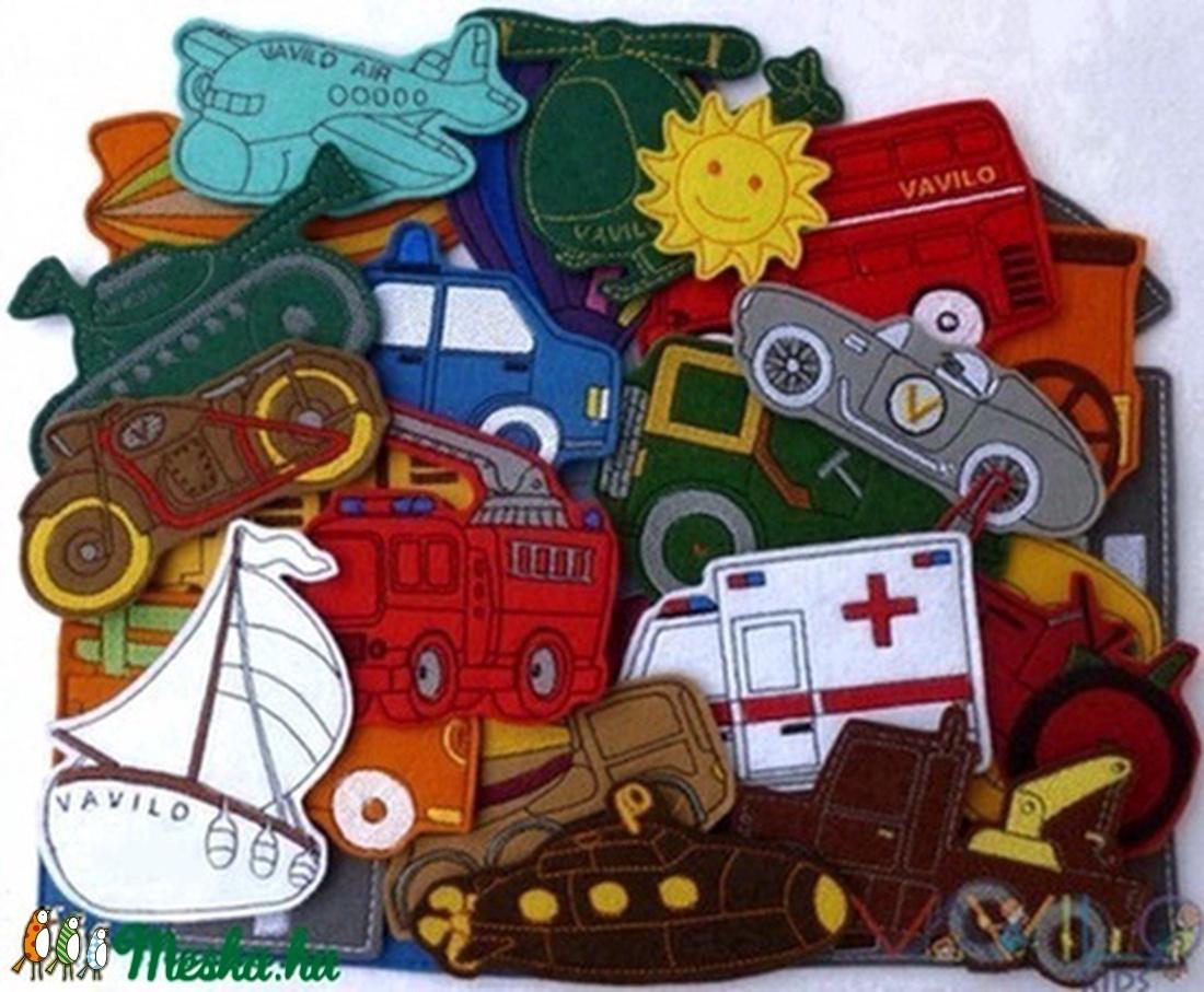 Járművek kollekció - 30 darab mágneses játék (Vavilokids) - Meska.hu